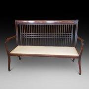 Late 19thC Mahogany 2 Seater Sofa