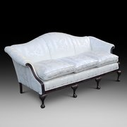 Late 19thC Mahogay Camel Back Sofa