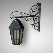 Late 19th Century Cast Iron Exterior Lantern