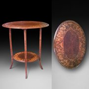 Late 19th Century Pokerwork Side Table