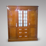 Late 19th Century Satinwood Wardrobe