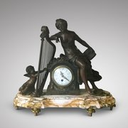 Late 19th Century Spelter and Marble Centrepiece
