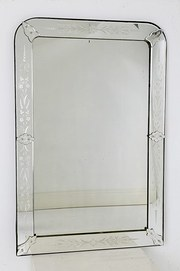 Late 19th Century Venetian Cut Glass Mirror