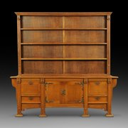 Late 19th century Arts & Crafts oak dresser
