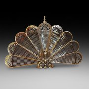 Late Victorian Brass Fire Screen