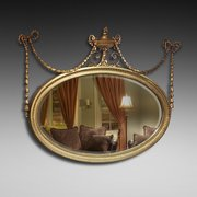 Late Victorian gilt gesso framed wall mirror