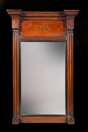 Mahogany Portrait Looking Glass