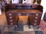 Gillows Mahogany Roll Top Desk