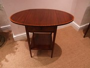 Mahogany and Satinwood Side Table