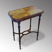 Mahogany and Inlaid Lamp Table