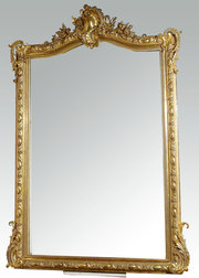 Mid 19th Century Over Mantel Gilt Mirror