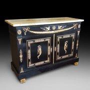 Napolean III Ebonised Cabinet