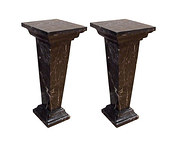 Pair Art Deco Bust Stands