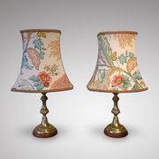 Pair Brass Lamps