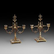 Pair of Aesthetic Brass Candelabra