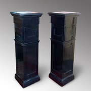 Pair of Art Deco Ebonised Pedestals