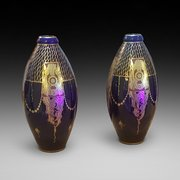 Pair of Art Deco Vases by Pinon-Heuzé