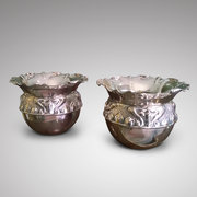 Pair of Arts and Crafts Copper Jardinieres
