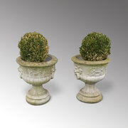 Pair of Composite Garden Urns