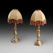 Pair of Edwardian Brass Chester Candlesticks