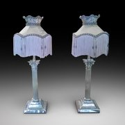 Pair of Edwardian Brass Table Lamps