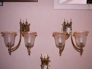 Pair of Edwardian Brass Wall Lights