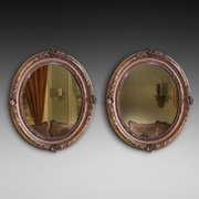 Pair of Edwardian Carved Giltwood Framed Mirrors