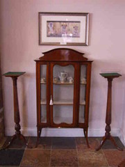 Pair of Edwardian Mahogany Torcheres