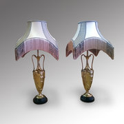 Pair of Electro Plated Gilt Lamps