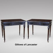 Pair Gillows Aesthetic Period Ebonised Card Table