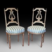 Pair of Late 19th Century Gilded Salon Chairs