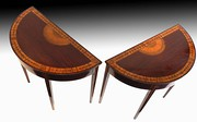 Pair of Mahogany Half Moon Tables