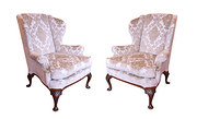 Pair of Mahogany Wing Chairs