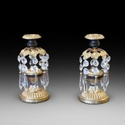 Pair of Regency Bronze Lustres