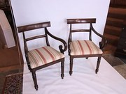 Pair of Regency Mahogany Carvers