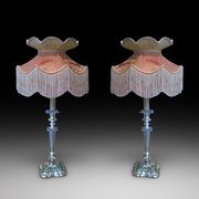 Pair of Victorian Silver Plated Candlesticks