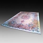 Persian Kerman Hand Woven Wool Carpet