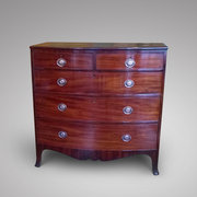 Regency Mahogany Bow Fronted Chest