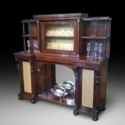 Regency Rosewood Inverted Breakfront Salon Cabinet