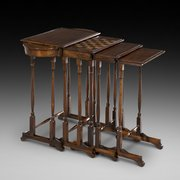 Regency Rosewood Quartetto Nest of Tables 1 Chess