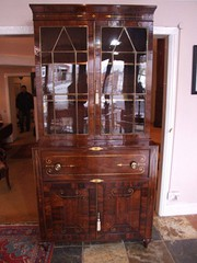Regency rosewood secretaire bookcase