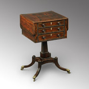 Regency rosewood worktable