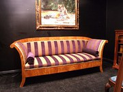 Satin Birch Biedermeier Sofa