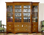 Satinwood Display Cabinet