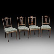 Set of 4 Edwardian Rosewood Salon Chairs