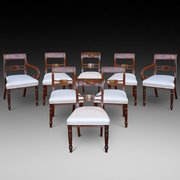 Set of 8 (6+2) Regency Mahogany Dining Chairs