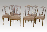 Set of Six (4+2) Dining Chairs