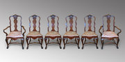 Set of six 4+2 Walnut Dining Chairs