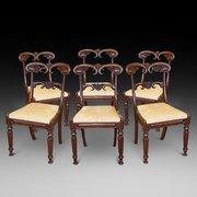 Set of six William IV Mahogany Dining Chairs