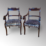 Ten (8+2) Regancy Mahogany Dining Chairs